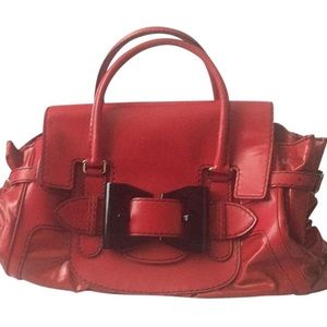 Queen Cherry Red Patent Leather/vinyl Handbag